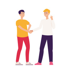 Friendly woman character influencer giving advice vector