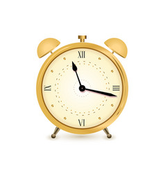 gold alarm clock vector image