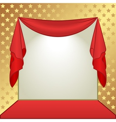 gold and red background with stars vector image
