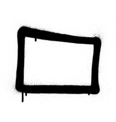 graffiti rectangle grunge frame in blac vector image