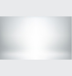 Gray studio background or backdrop 3d room vector