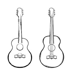 guitar 2021 0001 vector image