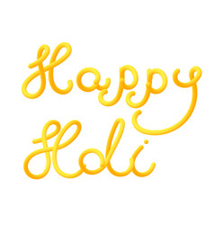 Happy holi greeting card for the festival of vector