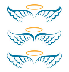 Heaven angeles wings vector