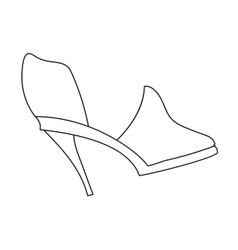 High heels with inner platform vector image