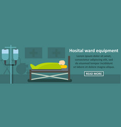 hospital ward equipment banner horizontal concept vector image