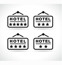 hotel signboard icons vector image