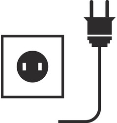 Icon of an electric plug with a socket vector