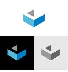 Initial letter c isometric logo icon design vector