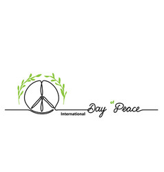 international day peace simple background one vector image