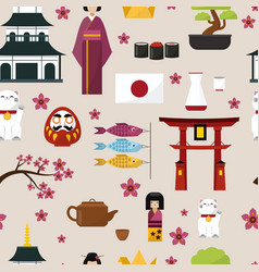 japan famouse culture architecture buildings and vector image