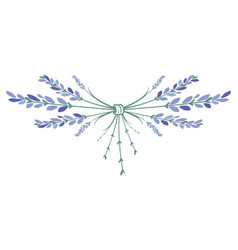 lavender flower wreath ornament formed by small vector image