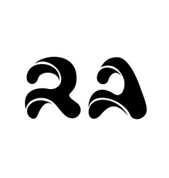 letter r and a rounded logo simple style vector image