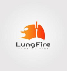 Lung fire logo designhealthcare and medical icon vector