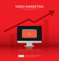 media marketing concept making money from video vector image