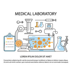 medical laboratory website vector image