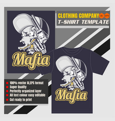 mock up clothing company t-shirt templatewolf vector image