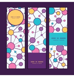 Molecular structure vertical banners set pattern vector