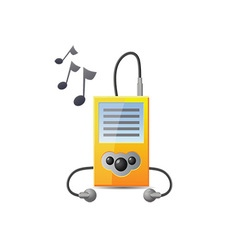 Music player icon vector image