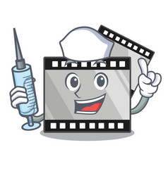 Nurse film stirep in characater shape vector