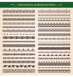 Ornamental Border Frame Patterns vector image