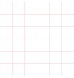 Pink Grid White Background vector image