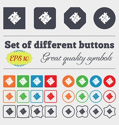 Puzzle piece icon sign Big set of colorful diverse vector