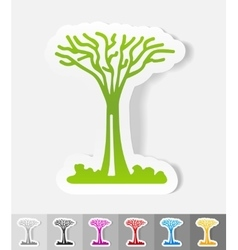 Realistic design element singapore tree vector