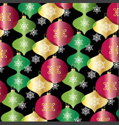 red green gold overlapping ornaments pattern vector image