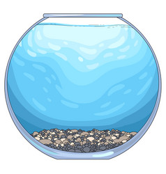 Round glass aquarium vector