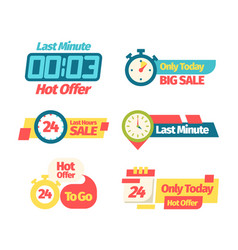 sale discount offer set banner discount last vector image