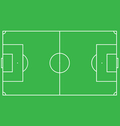 scheme of the football field of green color look vector image