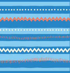 seamless pattern horizontal lines red blue vector image