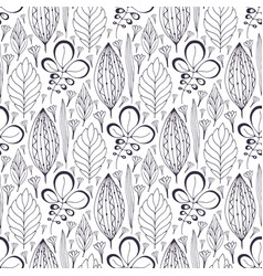 Seamless pattern with ethnic leaves ornament vector