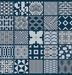 Set of endless geometric patterns composed with vector