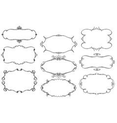 set of ornamental frames vector image