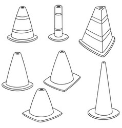 Set of traffic cone vector
