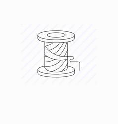 simple spool thread line icon vector image
