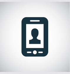 smartphone profile icon for web and ui on white vector image