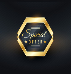 special offer golden label badge design vector image
