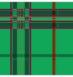 Tartan green seamless pattern vector image
