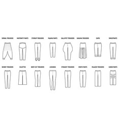 Trousers for woman set vector