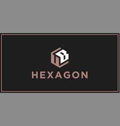 Ub hexagon logo design inspiration vector