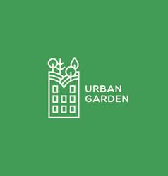 Urban garden logo vector