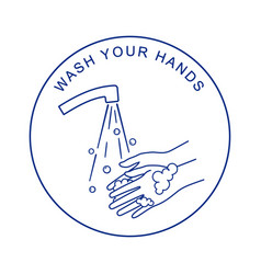 washing hands with soap coronavirus preventions vector image
