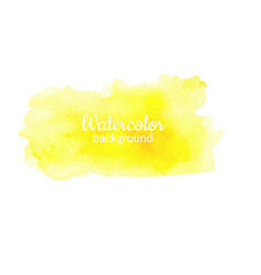 Watercolor yellow abstract hand painted background vector