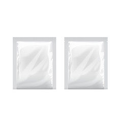 White blank template packaging foil food packing vector
