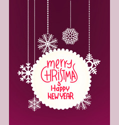 winter holidays greeting card template vector image