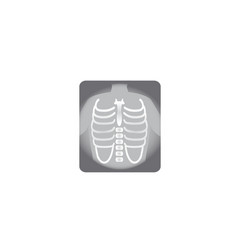 x-ray shot chest human body bones radiography vector image