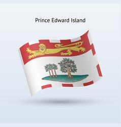 canadian province of prince edward island flag vector image
